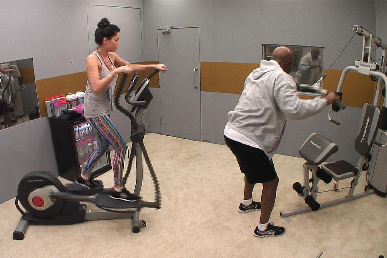 Jasmine & Evander in the gym