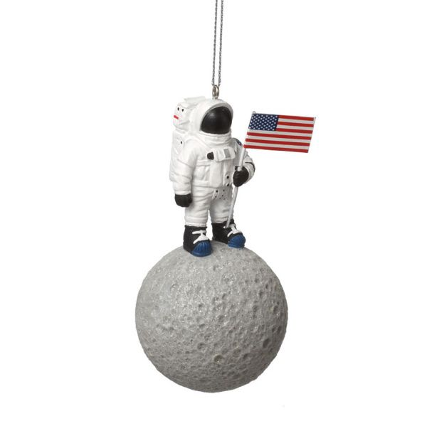 Space Astronaut On The Moon Christmas Ornament - Space Astronaut On The Moon Christmas Ornament Christmas Ornaments