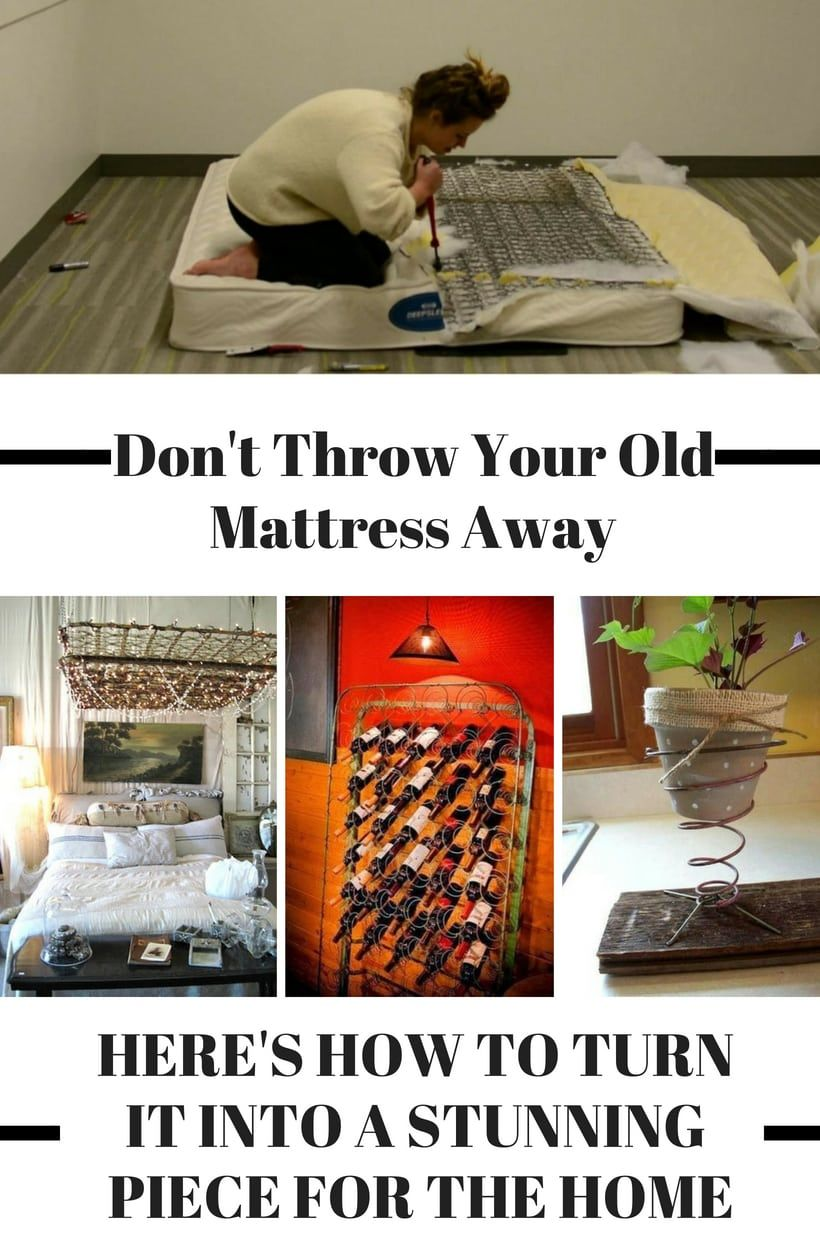 make stunning decor with an old mattress plus 39 other brilliant