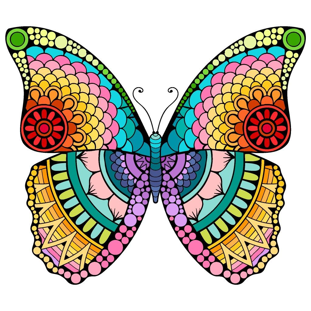 Pin By D Ne T Slaughter On Colorings Coloring Book App Butterfly Pictures Butterfly Art
