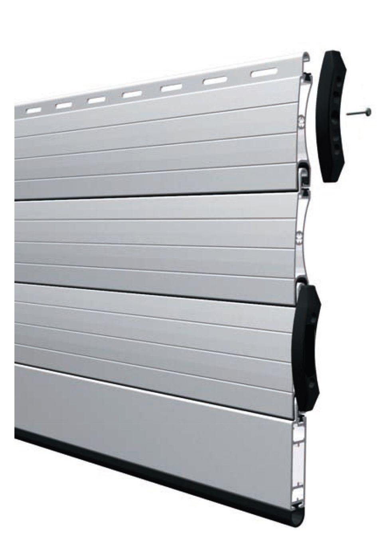 Lm 55 Silencieuse Porte De Securite En Lames Aluminium Extrudees
