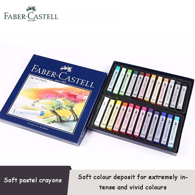 Faber Castell Soft Pastels Crayon Cardboard Box 12 24 36 Color