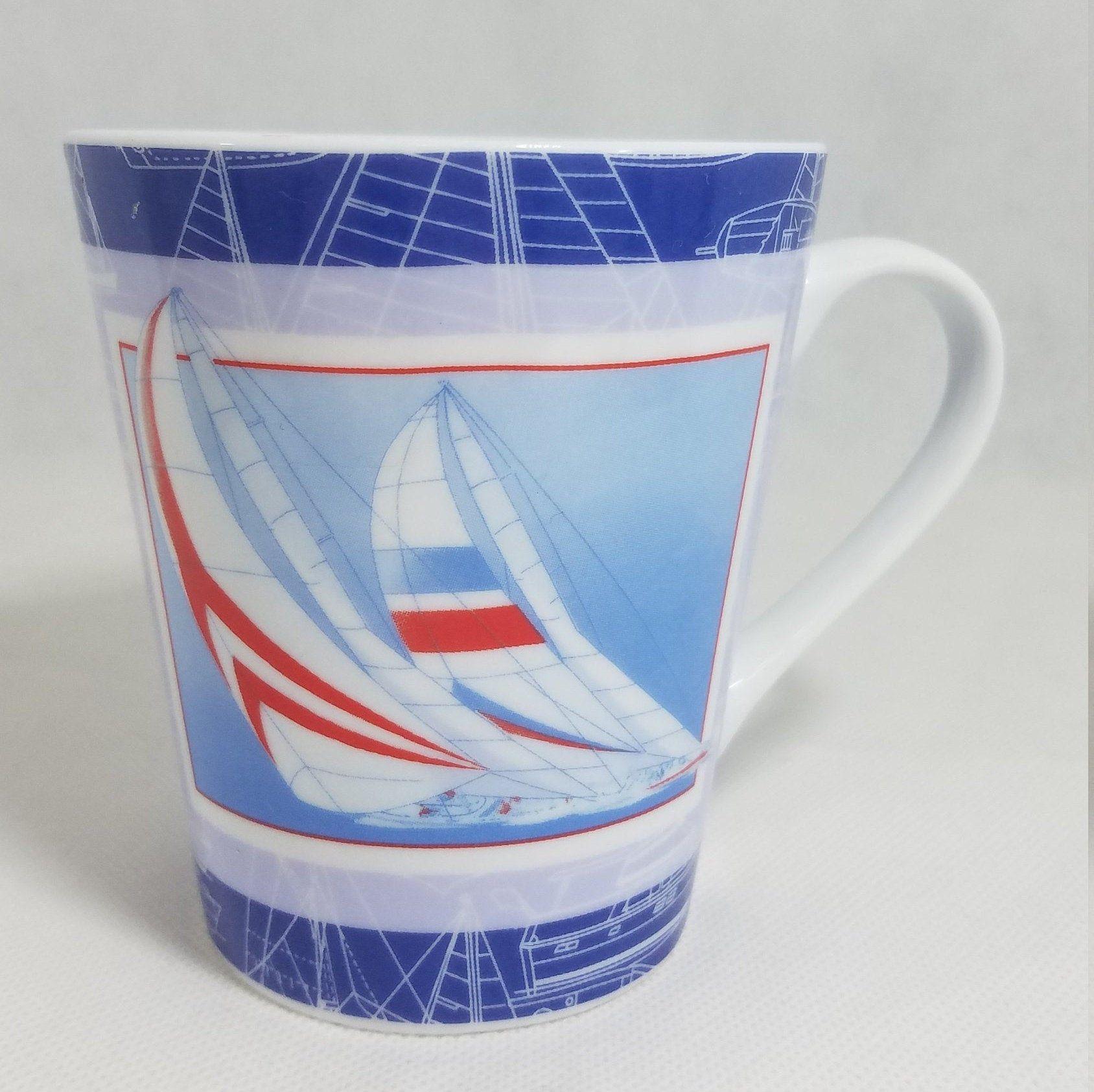 Nautical mug boat mugocean mugvintage sailboat nautical