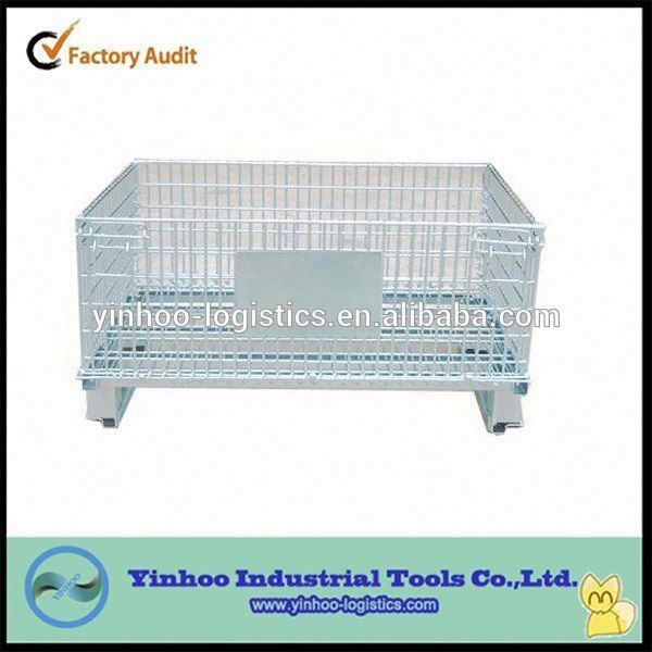Heavy Duty Industrial Wire Mesh Containers With Wheels Made In China Industrial Wire Mesh Storage