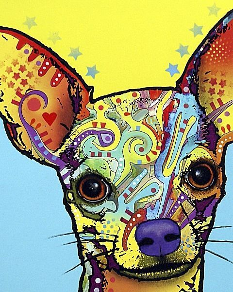 DOG ART PRINT Chihuahua Dean Russo 16x20 Image Conscious #PopArt