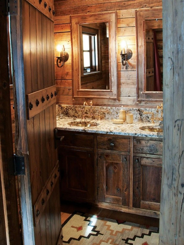 Best 27 Amazing Small Rustic Bathroom Decorating Ideas On ... on Amazing Small Bathrooms  id=13062