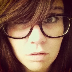 straight bangs and glasses