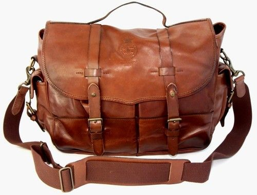 ccab97558b00 Polo Ralph Lauren Leather Messenger   Satchel Men s NEW  498 in 2019 ...