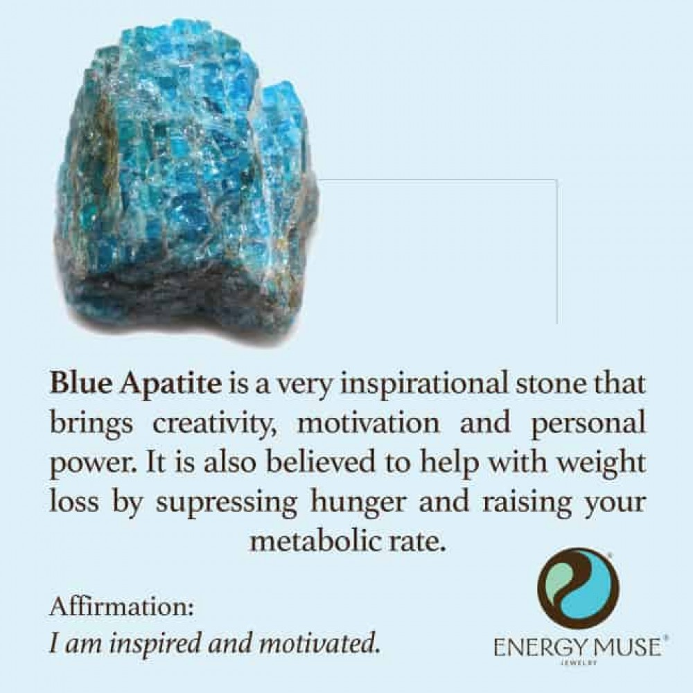 Blue Apatite Stone Discover The Blue Apatite Meaning From Energy Muse Apatite Stone Crystals Energy Crystals