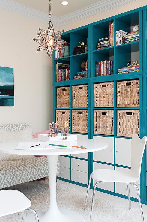 comedor mesa redonda blanca libreria blanca ikea - Buscar con Google ...
