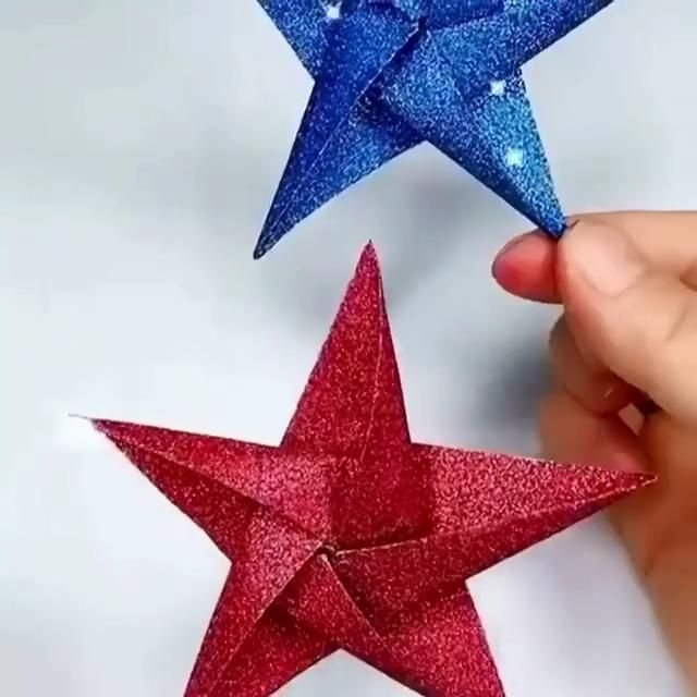 How to fold a paper star