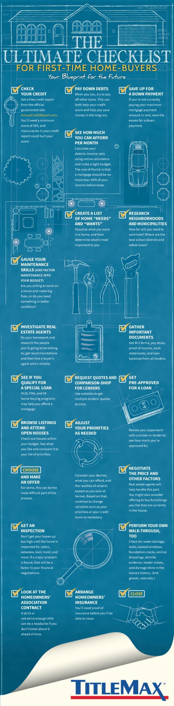 Infographic 20 Steps To Buying Your First Home Infographics