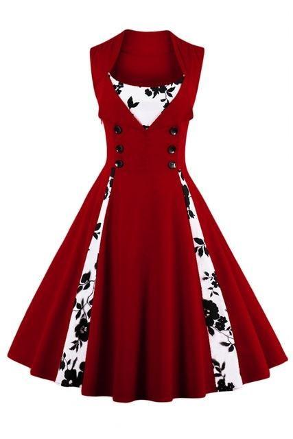 9a9c28fcd988b S-5XL Women Robe Pin Up Dress Retro Vintage 50s Rockabilly Dot Swing Summer  Dress