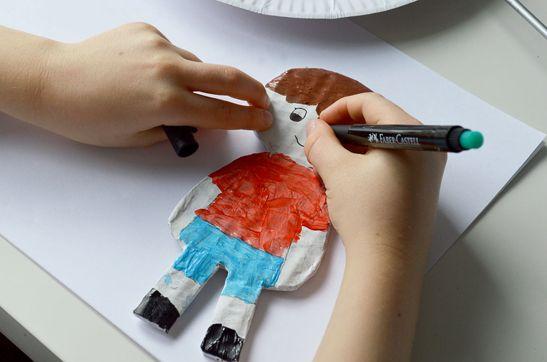 DIY Cardboard Dolls Craft with template