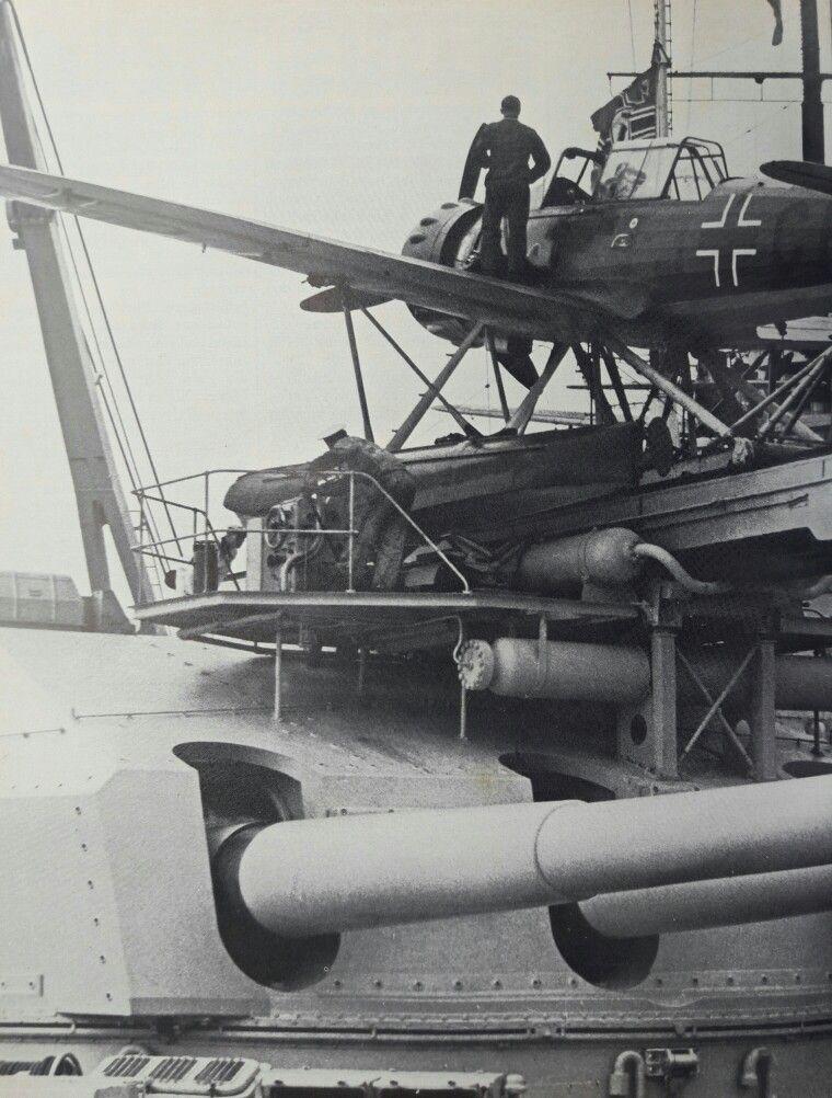 Image result for gneisenau turret catapult
