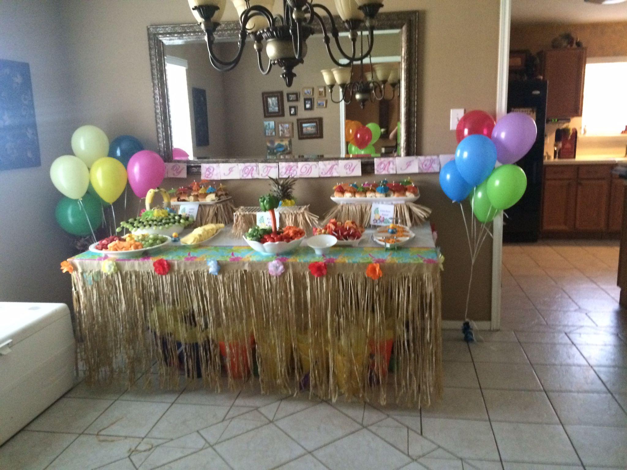 best luau rileyus birthday party images on pinterest