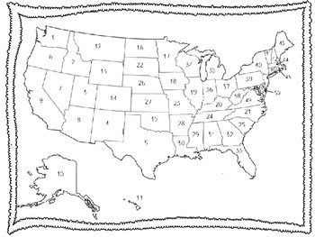 50 States Map Quiz | United states map, Us map, Capital of usa