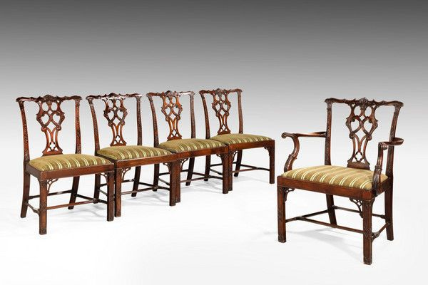 Delicieux Set Of Ten Chippendale Design Mahogany Framed Chairs (Ref No. 7124)    Windsor