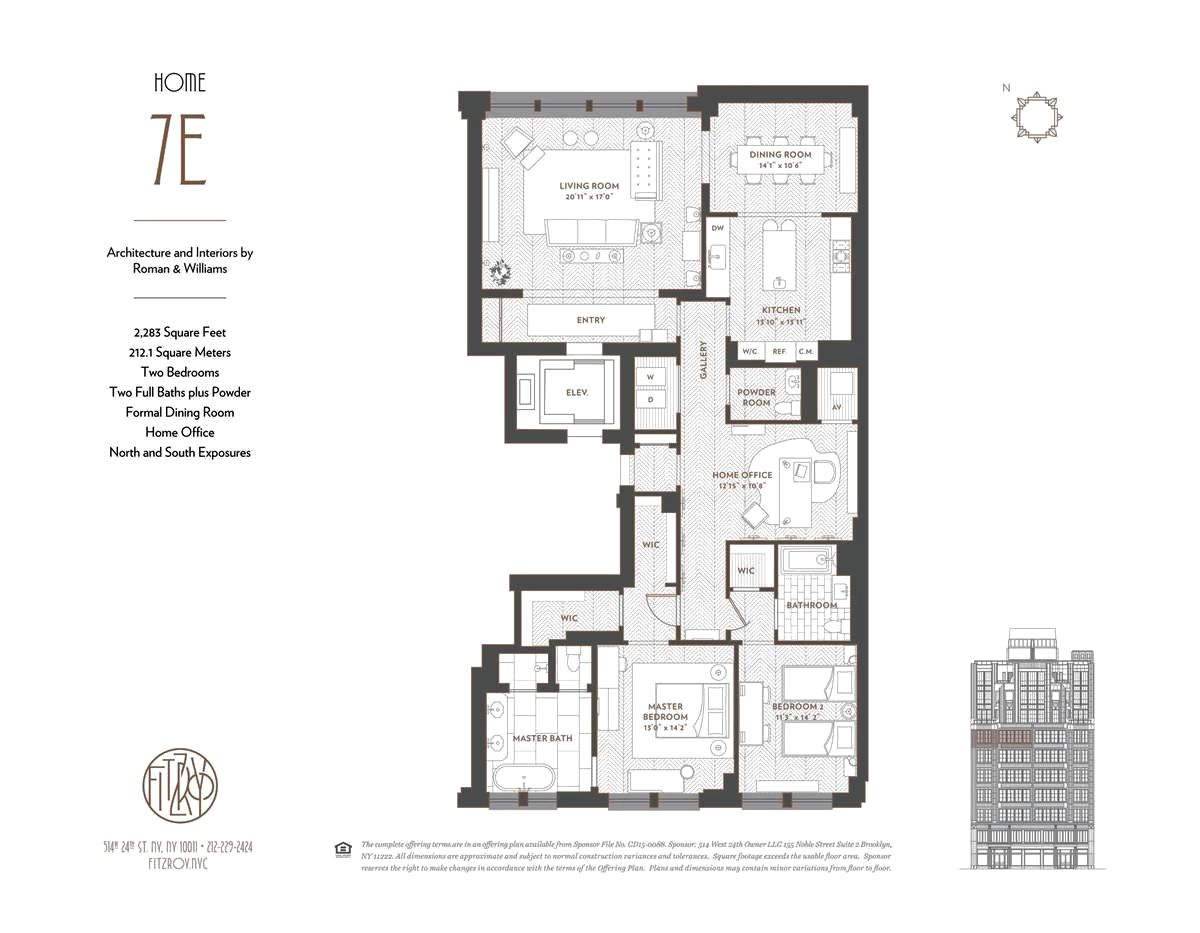 Two Floor Apartment Nyc The Fitzroy Ny 7e Plan Design Apartments Condos