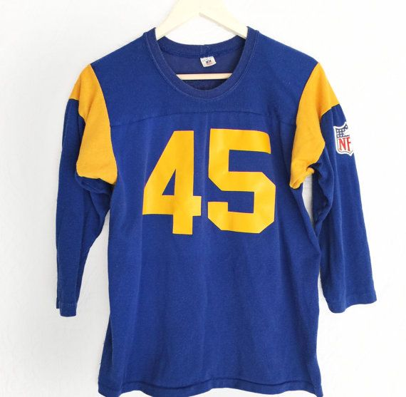 d79a29b232b Vintage LA Rams NFL shirt 70s 1970s Sears Roebuck Rawlings Authentic ...