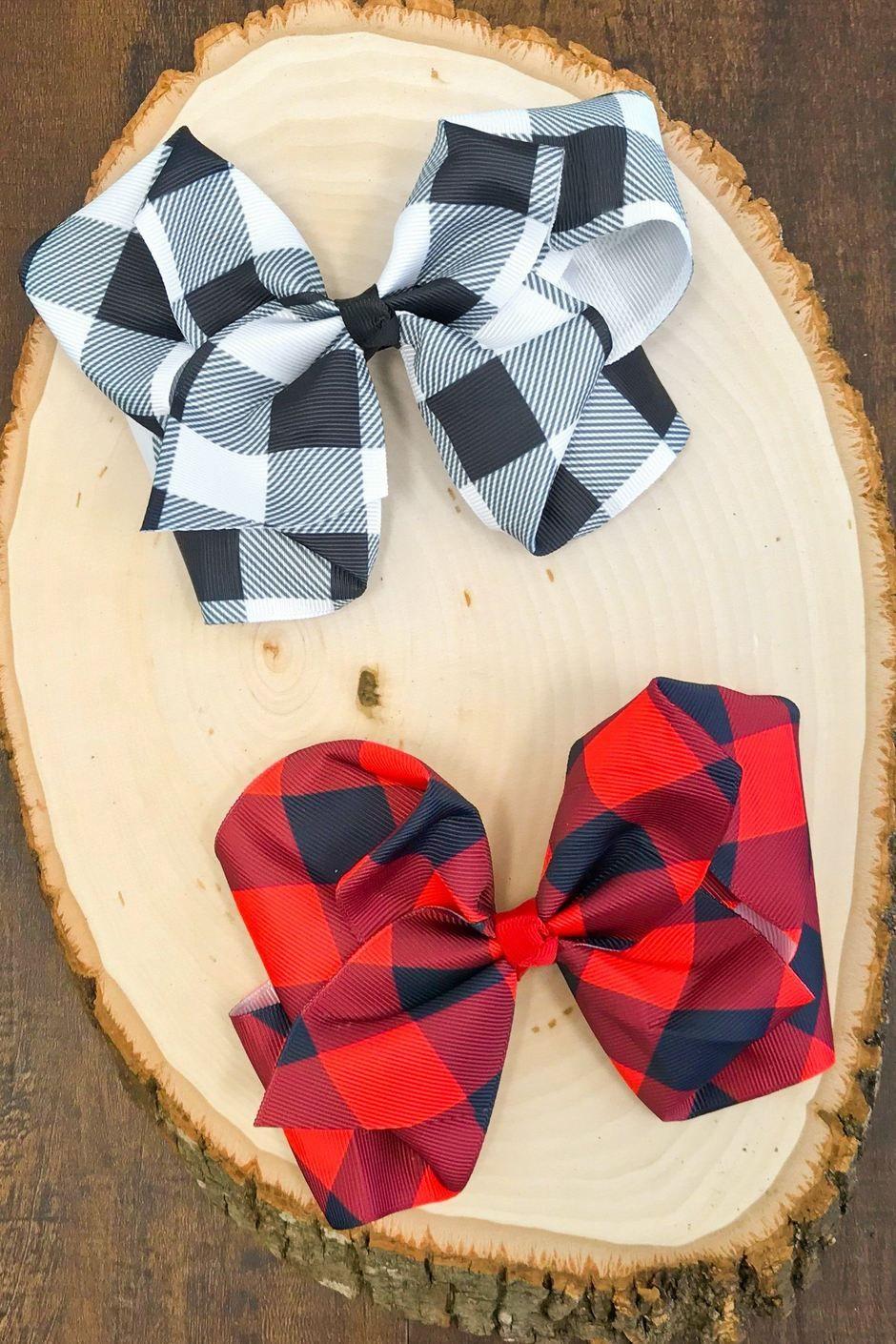 7 Plaid Bows   Plaid bow, Girls dress up, Little bow