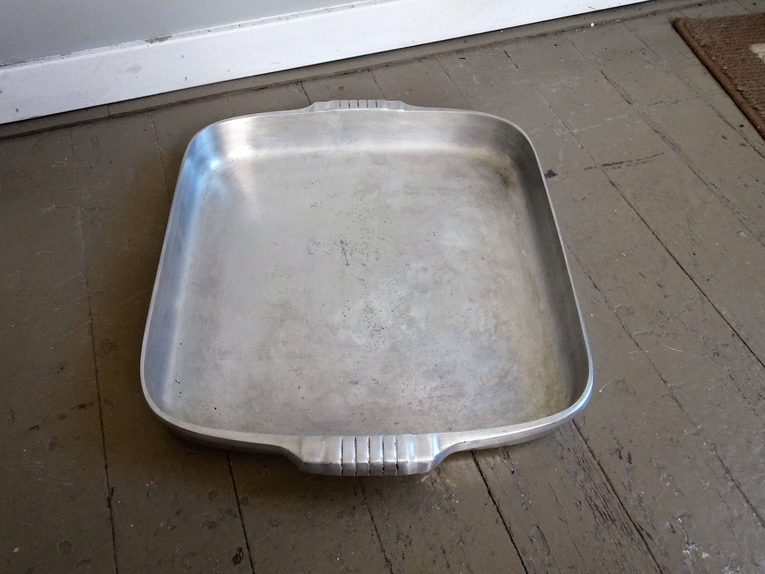 Vintage wagner ware magnalite sidney roasting bake pan 4007 m farm decor aluminum cook ware vintage cook ware by rue88market on etsy