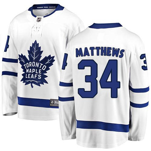 Fanatics Branded Toronto Maple Leafs Youth Mitchell Marner Breakaway White  Away NHL Jersey