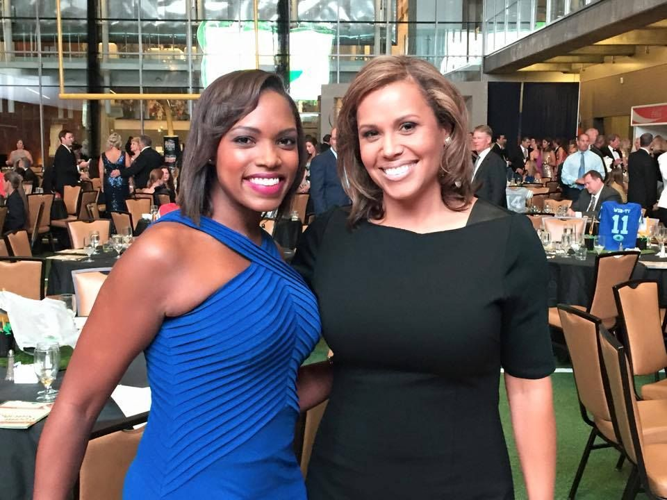 "Jovita Moore - WSB-TV Atlanta | ""People often ask her if she's me, and ask me if I'm her. I'm not sure why! So, our reporter Erica Byfield and I took a picture together this weekend so our viewers know we're 2 different people! Erica is in blue, that's me in black. Do you see any resemblance? One thing we have in common: we're both on WSB-TV today. Join us"""