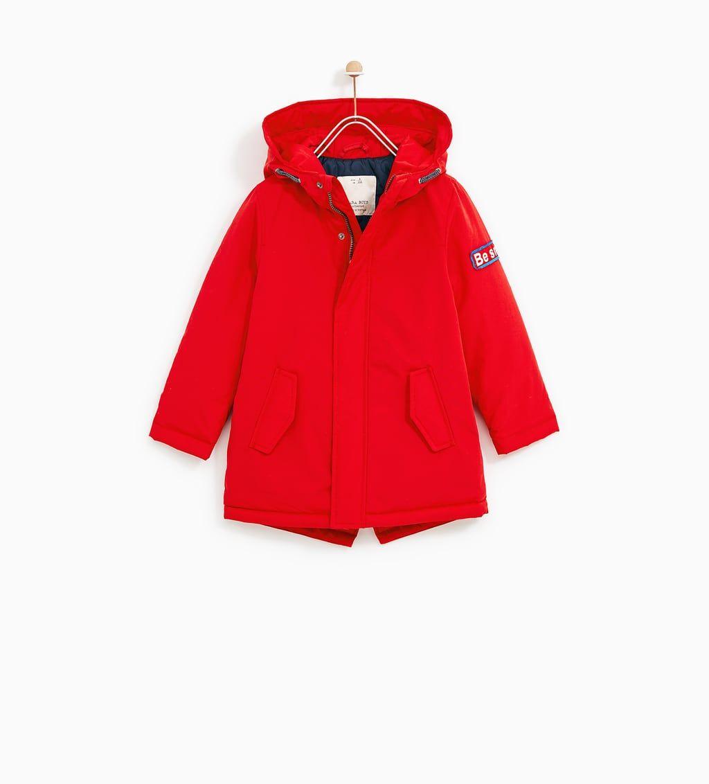 Zara Soldes Parka A Pieces Parka Mantel Kleidung Fur Jungen