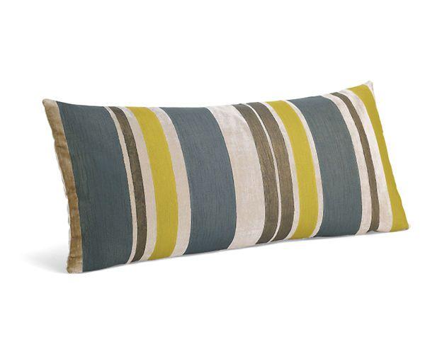 Multistripe Mist Citron Pillow Pillows Accessories