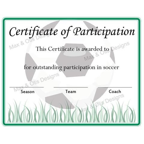 Printable Sports Certificates Printables  Max  Otis Designs