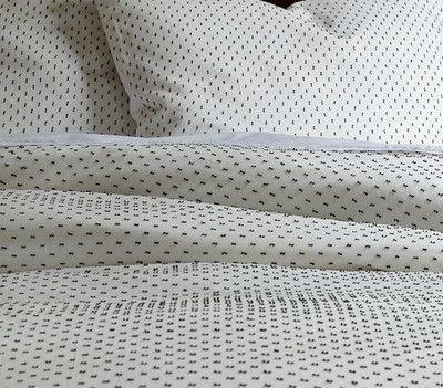 West Elm Swiss Dot Duvet Cover Full Queen White Slate   EBay Nice Design
