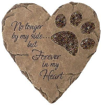 Beadwork Garden Stepping Stone Pet Dog Cat Grave Memorial