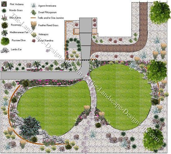 Landscape Idea mediterranean front yard landscape ideas | favorite places