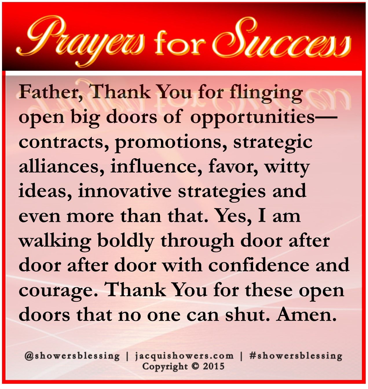 PRAYER FOR SUCCESS Oct 24 | Leadership | Prayer for success