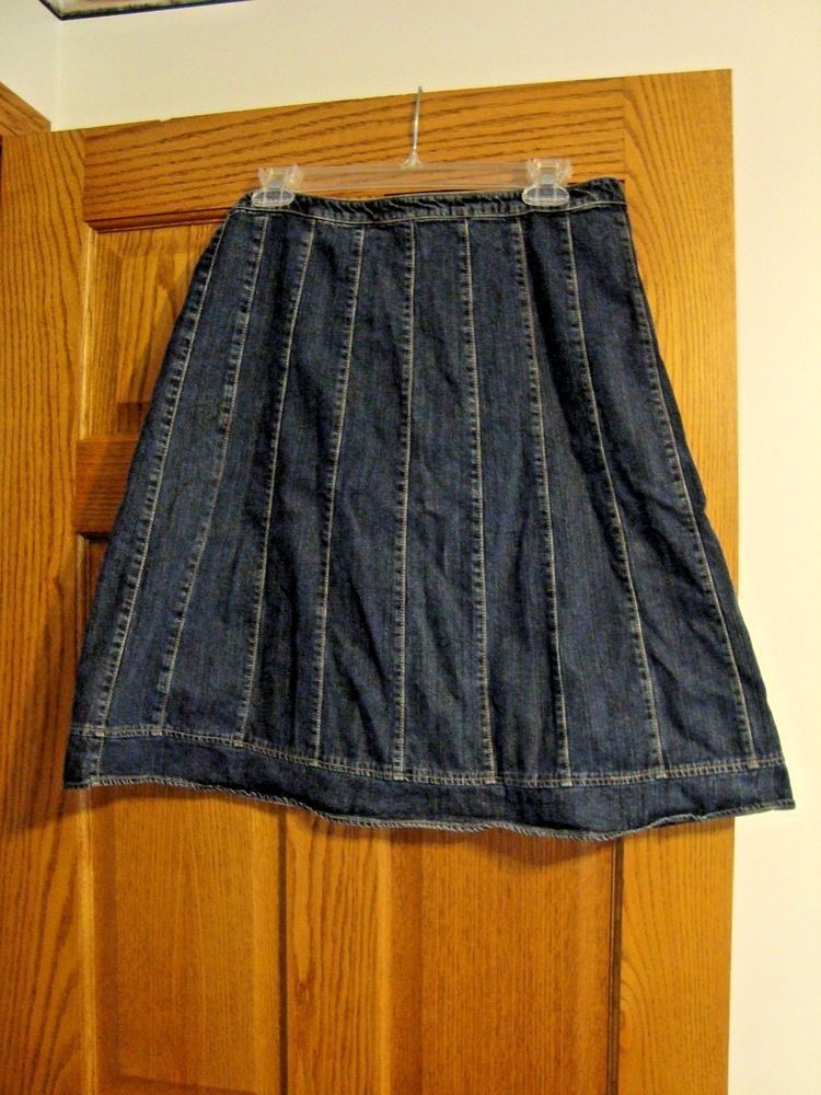 9504be5c19 WOMENS DENIM JEAN SKIRT KNEE LENGTH SONOMA SIZE 8 #fashion #clothing #shoes  #accessories #womensclothing #skirts (ebay link)