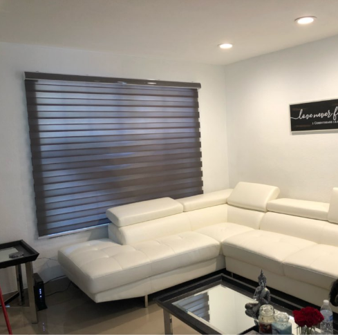 Grey Zebra Blinds For Home Office Please Contact Me At Whatsapp 8618606758203 Zebra Blinds Home Sectional Couch