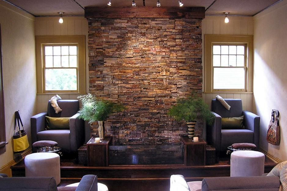 Cool Indoor Rock Water Feature Stone Water Features Interior