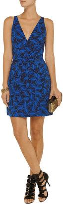 Diane von Furstenberg Oblixe printed stretch-jersey mini wrap dress - ShopStyle