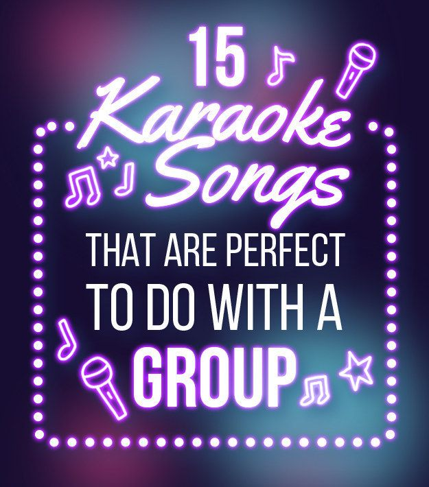 15 Group Songs That Will Bring Down The House At Karaoke #bestkaraokemachine