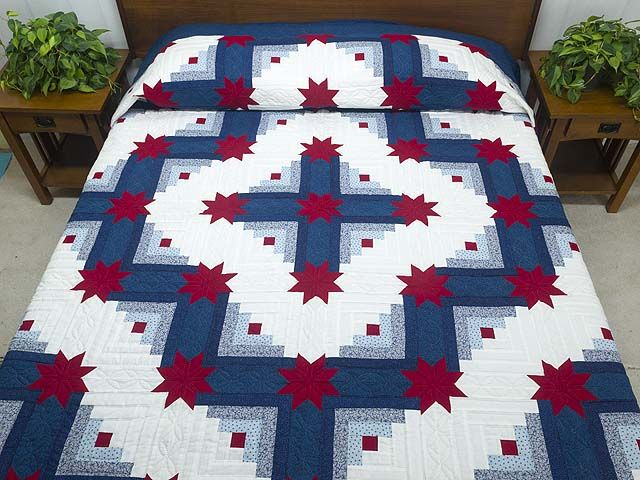 Red White Amp Blue Colorado Star Quilt By Amish Country