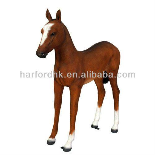 Giant Life Size Horse Fiberglass Resin Garden Animals Ornament For