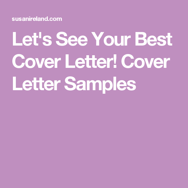 your best cover letters