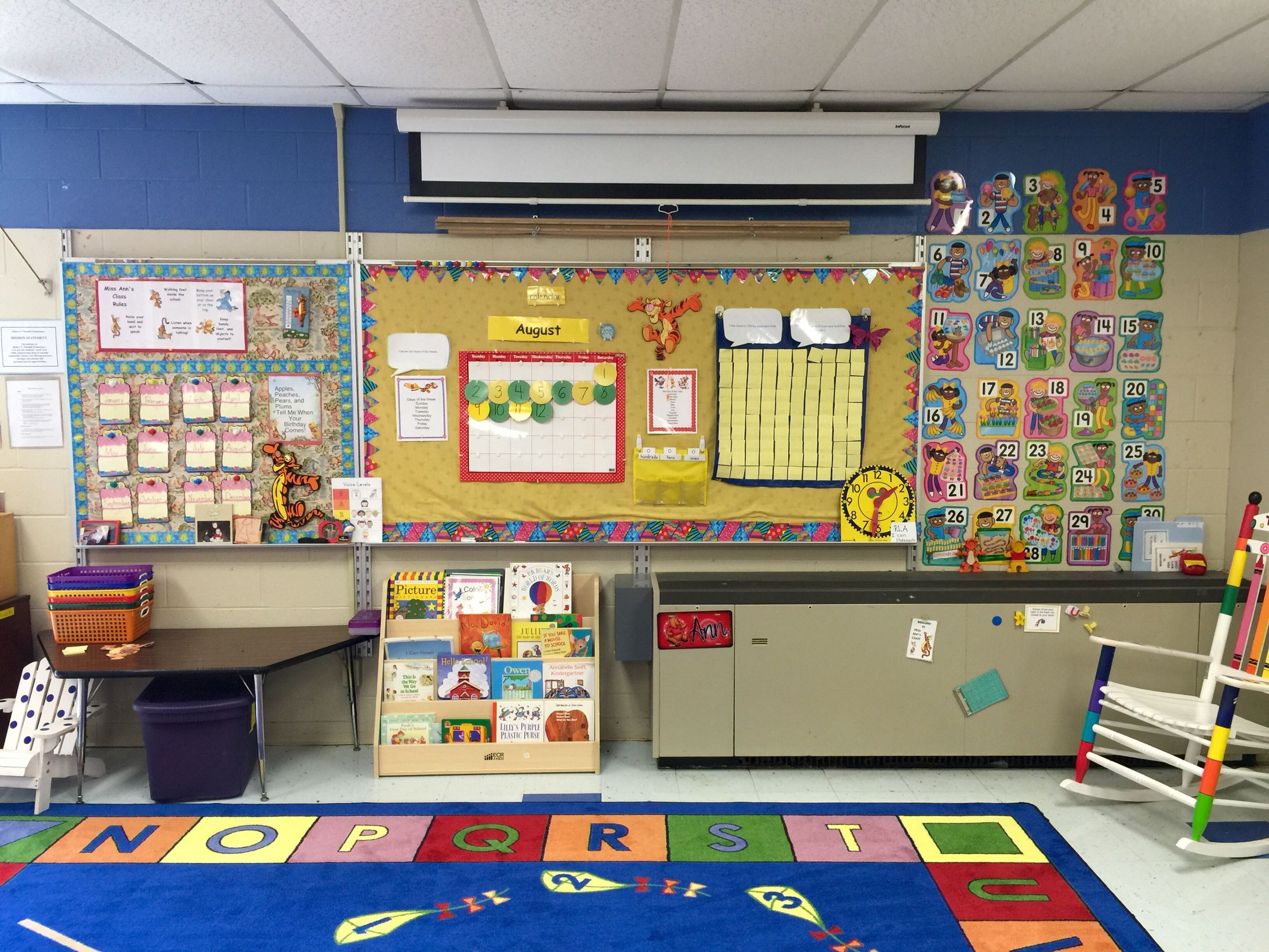 The View Of The Front Of My Pooh Kindergarten Classroom