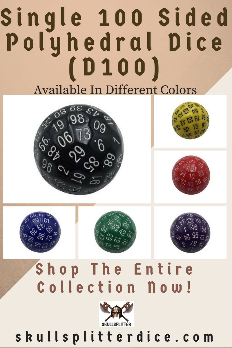 Single 100 Sided Polyhedral Dice D100 From The Skullsplitter Dice Store Rpg Dice Dnd Dice Dungeons And Dragons Gifts Dungeons And Dragons Game Rpg Gifts