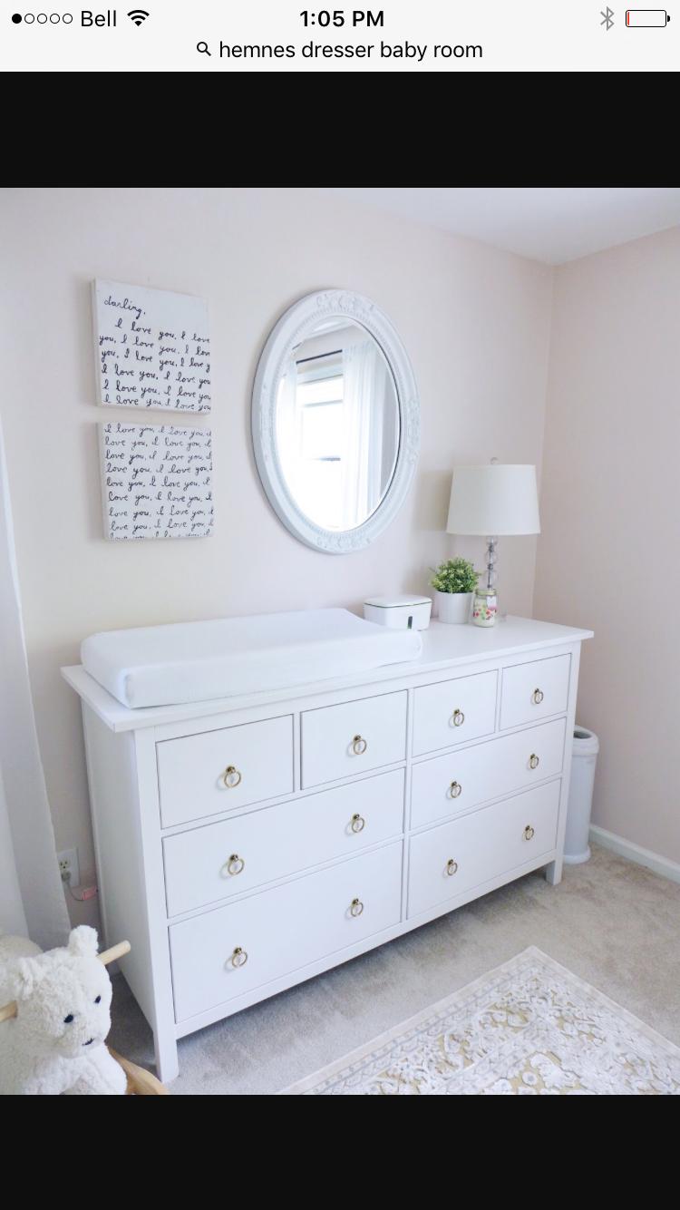 Ikea Hemnes Dresser As A Change Table Ikea Baby Baby Dresser