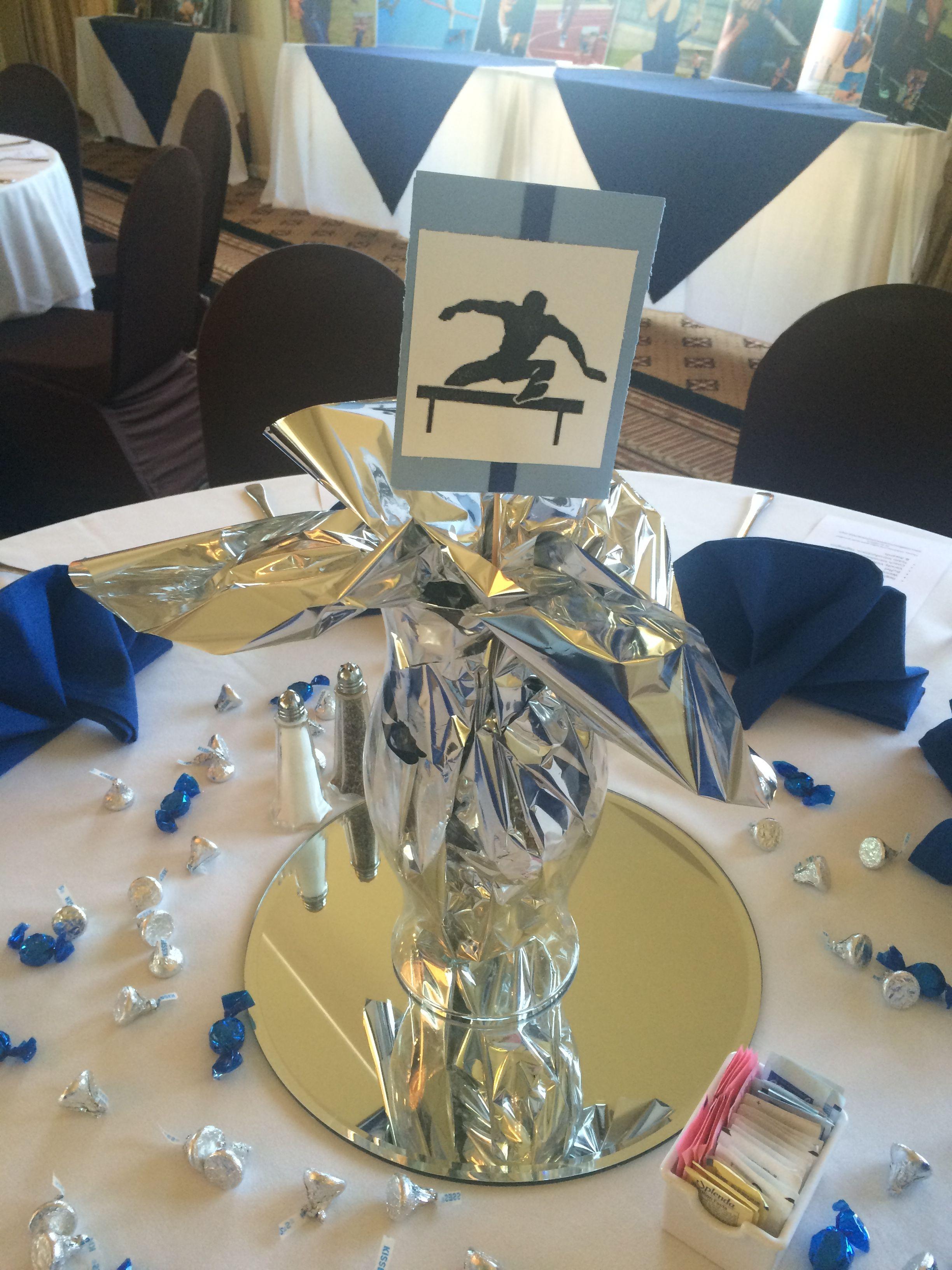 Track Banquet Centerpiece On A Budget Banquet Centerpieces