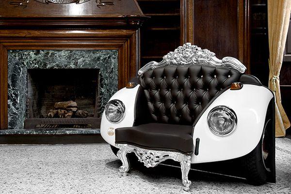 Diseño: Glamuroso sillón escarabajo por Zac Glamour | mypinkadvisor.com
