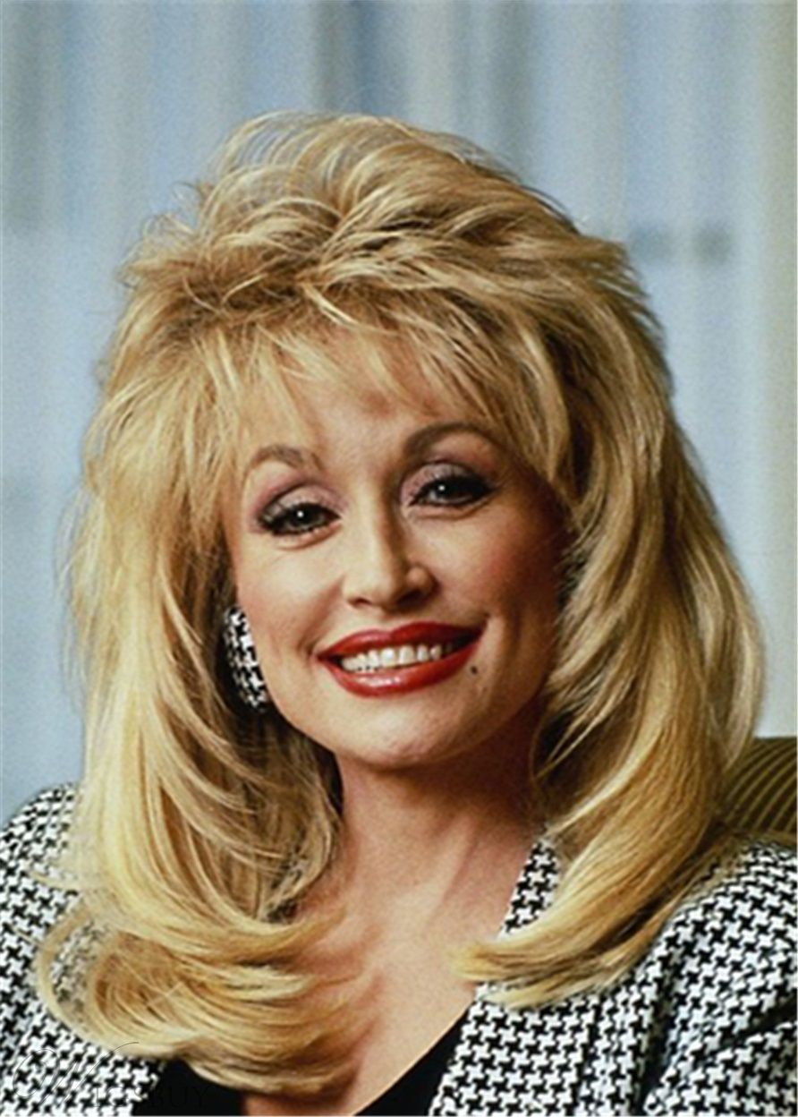Dolly Parton Hairstyle Synthetic Hair Lace Front Cap Wig In 2020 Wig Hairstyles Dolly Parton Wigs Synthetic Hair