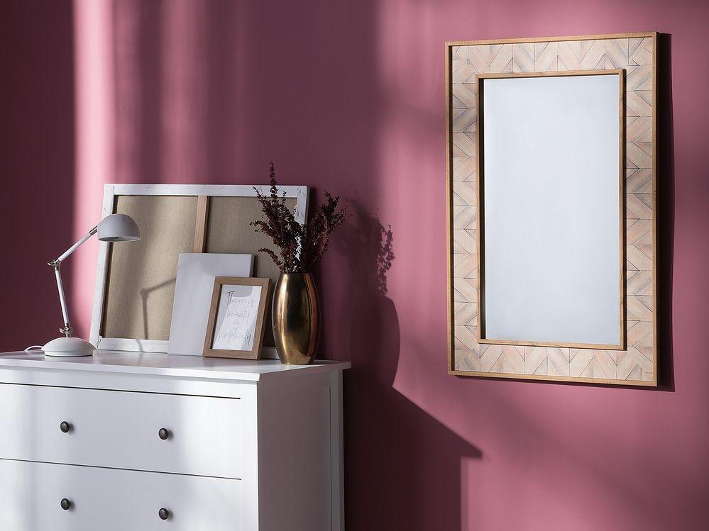 Miroir mural marron clair 60 x 90 cm ROSNOEN (con immagini